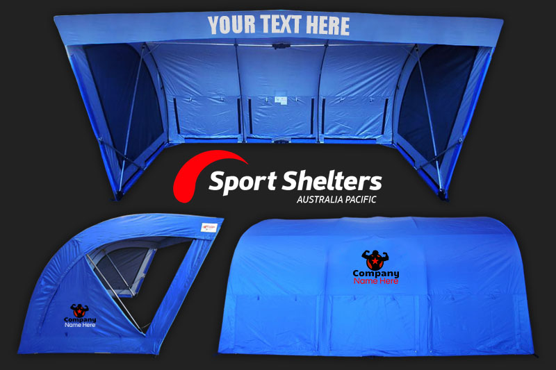 Sport Shelters are fully brandable